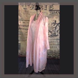 Dresses & Skirts - Beautiful Pink Dress w/Matching Sheer Jacket (L)